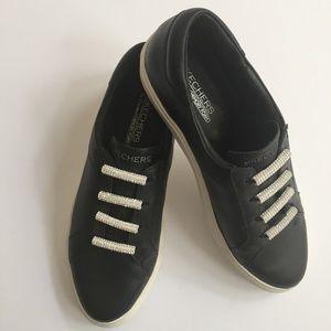 Sketchers Slip-On Black & Rhinestone Shoes Size 10